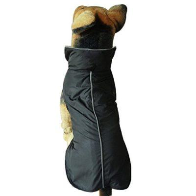 Yahee Hundemantel Regenmantel Hundebekleidung Hundejacke Wintermantel Regenjacke (M, Schwarz)