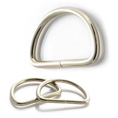 10er Set D-Ringe aus rostfreiem Nickelstahl Ø 2,5mm, Hundehalsbänder ect. , Marke Ganzoo