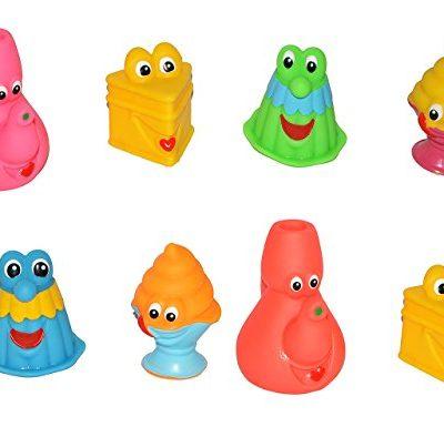 12-tlg-Set-Quietscher-als-lustiger-Kuchen-Kchen-Artikel-mit-Gesicht-fr-Baby-ab-0-Monate-Quietschtier-Figur-Badewanne-Torte-Geschirr-Badewannenspielzeug-Babys-auch-fr-Hunde-geeignet-Gummifigur-Gummi-Qu-0