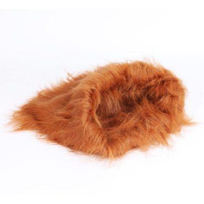 2-TECH Löwenmähne für Hunde in braun 42x37cm Hundekostüm Perücke