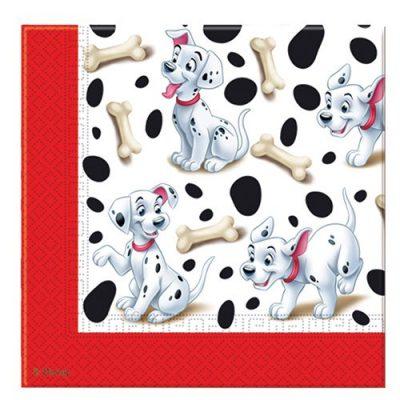 20 Servietten 101 Dalmatiner Disney 33x33cm