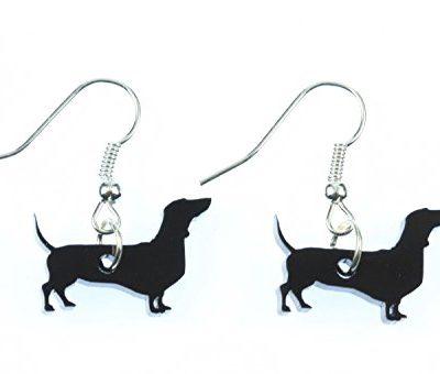 Dackel-Hund-Ohrringe-Hnger-Miniblings-Saussage-Dog-Plexiglas-Dachshund-0