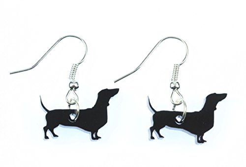 Dackel Hund Ohrringe Hänger Miniblings Saussage Dog Acrylglas Dachshund