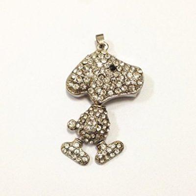 ESCOO Schmuck USB-Stick Speicher mit künstlichen Diamantkristallen und Schlüsselanhänger-als Geschenk verpackt-Kürbis -Hund USB mit 1 gratis Halskette & Escoo Beutel (8gb)