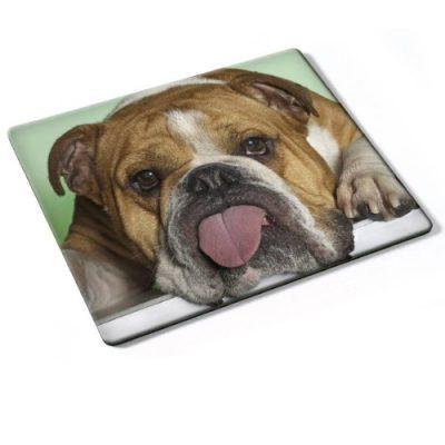 Hunde 10012, Bulldogge, Mousepad Anti Rutsch Unterseite für Optimalen Halt Kompatibel mit allen Maustypen (Kugel, Optisch, Laser) Ideal für Gamer und für Grafikdesigner.