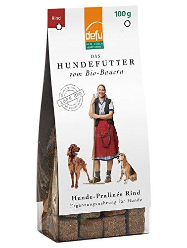 defu Hunde Leckerli getreidefrei - Pralinés mit Rind | Hunde Kauartikel in Bio Qualität| Hunde Leckerli für Clicker Training