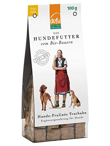 defu Hunde Leckerli getreidefrei - Pralinés mit Truthahn | Hunde Kauartikel in Bio Qualität | Hunde Leckerli für Clicker Training