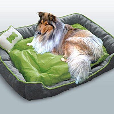 Hundebett / Hundekissen / Schlafplatz + 1 Kissen XL Grün