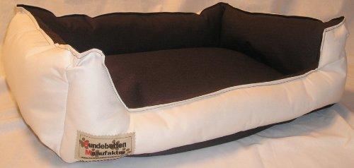 Hundebett Hundesofa Schlafplatz Bella 90 cm X 70 cm beige braun