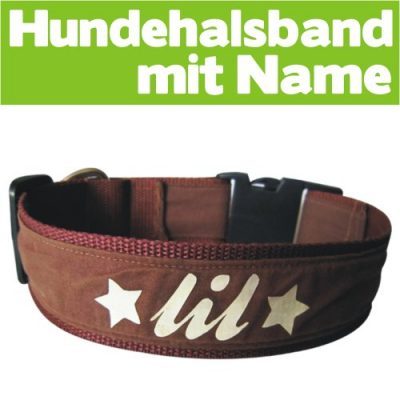 Hundehalsband mit Name (45-50cm)