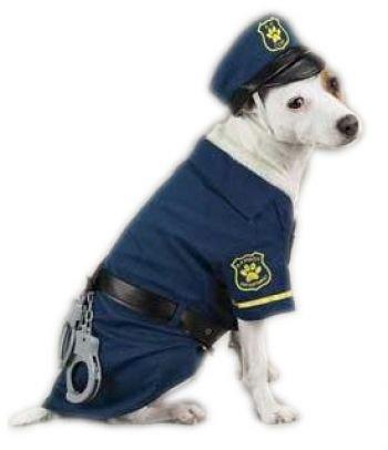 Hundekostüm Police Officer für Halloween, Fasching oder Karneval, Größe S