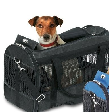 IATA Hundetasche Hunde Flugtasche Flugkabine Flugbox Hundetragetasche bis 12 kg M - L Schwarz
