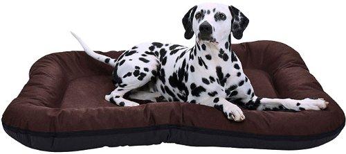 Knuffelwuff 12652 Wasserfestes In und Outdoor Hundebett Lucky - Größe XXL 118 x 85cm Braun