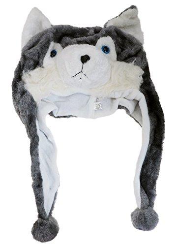 Kinder Mütze mit verschiedenen Tiermotiven (Wolf)