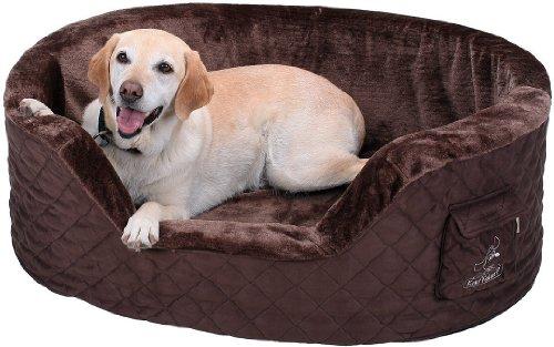 Knuffelwuff 12742 Hundebett Henry aus 5 cm Schaumstoff - Größe M - L, 80 x 60 cm, braun