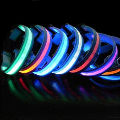 LED Halsband Light - LED Leuchtschlauch Leuchthalsband Hundehalsband Hund Multifarbe S