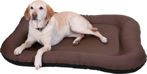 Knuffelwuff 12681 Leder Hundebett Jerry - Größe XL, 92 x 75 cm, braun