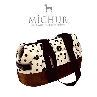 MICHUR-TREND-Hundetransportbox-Katzentransportbox-Hundetragetasche-Handtasche-TRAGETASCHE-WEI-in-verschiedenen-Gren-lieferbar-0