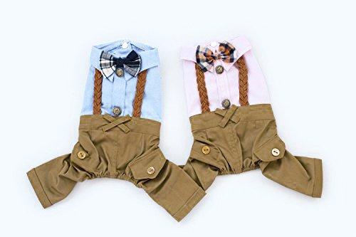 Monkey Cases® Hunde Kostüm - Lederhosen-Optik - Bayern-Outfit - Halloween/Oktoberfest (ROSA, XL)
