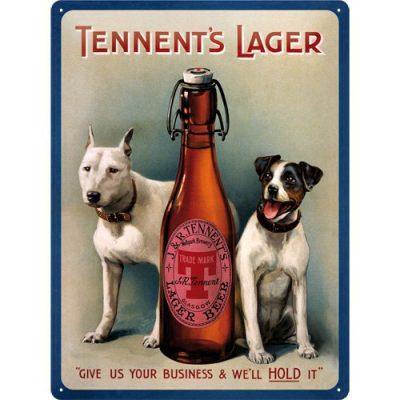 Nostalgic-Art 20311 Bier und Spirituosen Tennents Lager, Blechschild, 30 x 40 cm