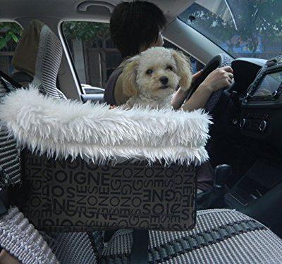 Petown-Hund-Autotransporter-mit-FellAuto-Hundetasche-Autositz-Hunde-Welpen-Tragetasche-Hundesitz-Reise-wahl-schwarz-0