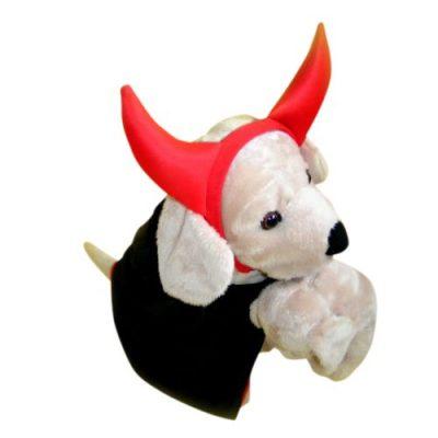 Teufel für Hund Hunde Kostüm Pelerine Hörner Fasching Karneval Halloween