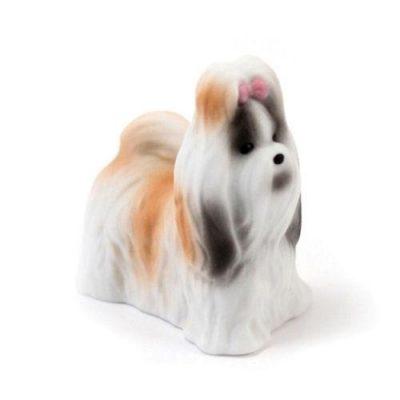 Tierische Tortenfigur Porzellan Hund - Shih Tzu