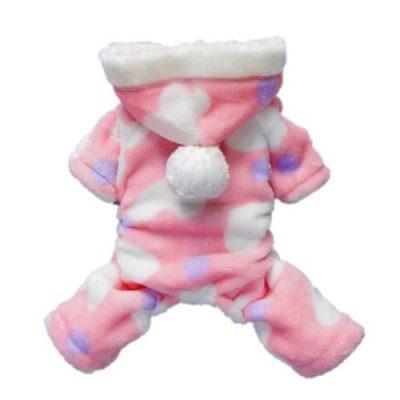 Umiwe(TM) Süß Korallenrote Vlies Hund Bekleidung Haustier Bekleidung(Rosa,S) mit Umiwe Accessorie Sparschäler