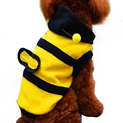 Vakind Biene Kostüm Kapuzenpulli Jacke für Haustier Hund Katze Halloween Bekleidung (Nr. 16)
