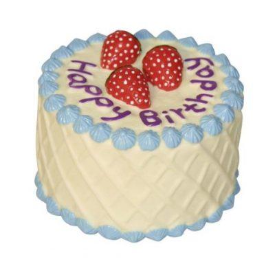 Kerbl Geburtstag Kuchen Hundespielzeug, 10cm