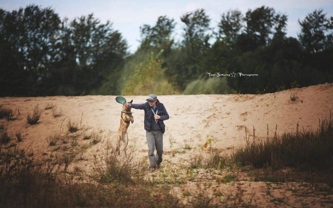 Hunde Foto: Tim und Coco – Spielen im Sand